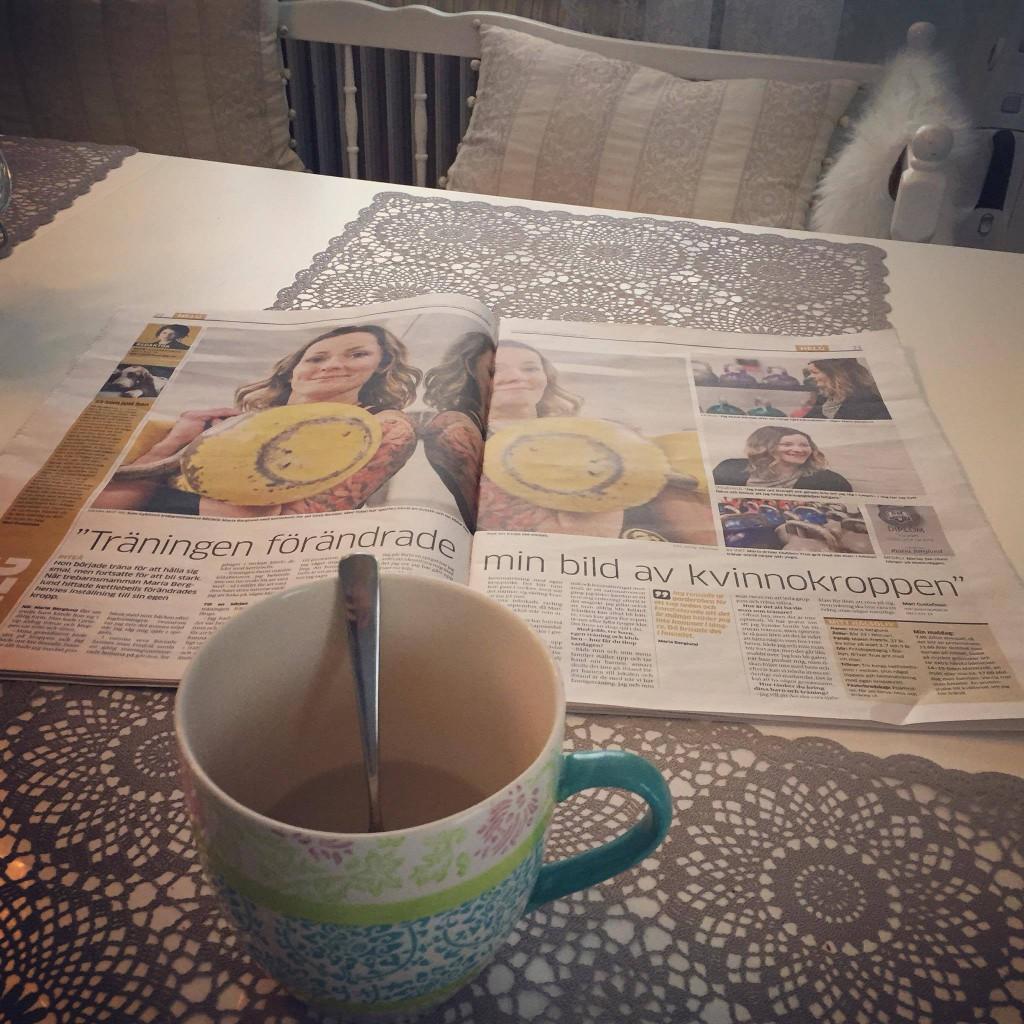 te och tidning